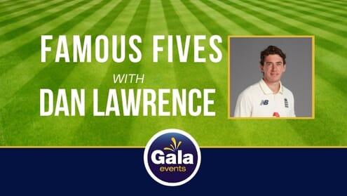 England Dan Lawrence VIP Cricket Hospitality Corporate Event