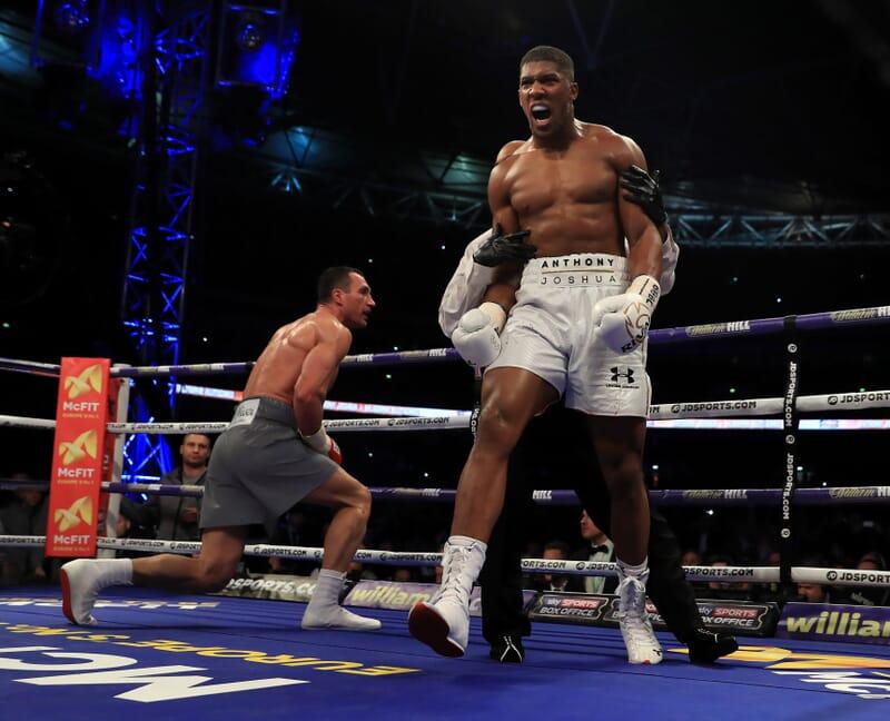 boxing sport hospitality anthony joshua